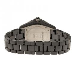 Chanel Black Ceramic J12 Men's Wristwatch