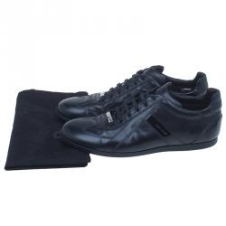 Dior Homme Black Leather Sneakers Size 42