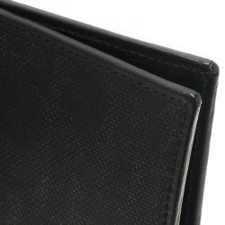 Dior Homme Black Logo Jacquard Leather Passport Cover