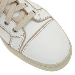 Christian Louboutin White Leather Louis Sneakers Size 41