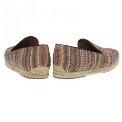 Christian Louboutin Multicolor Woven Leather Relax Espadrilles Size 42