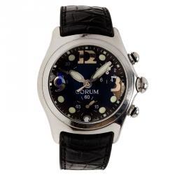 Corum Black Stainless Steel Boutique Bubble Men's Wristwatch 44MM