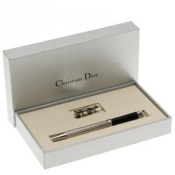 Dior Black and Silver Resin Classic Ballpoint Pen