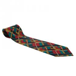 Dior Multicolor Print Silk Tie
