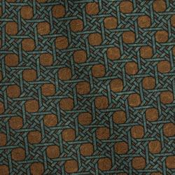 Dior Green and Brown Printed Silk Tie