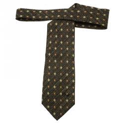 Dior Black Floral Silk Tie