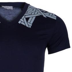 Dior Navy Print T-Shirt S