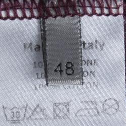 Dior Burgundy Crew Neck T-Shirt M