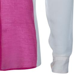 Dries Van Noten Long Sleeve Color-block Shirt M