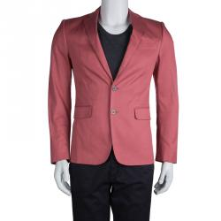 DSquared2 Pink Cotton Tailored Blazer S