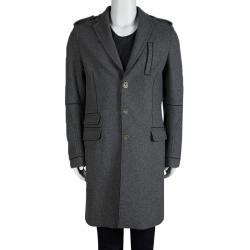 Dsquared2 Grey Wool Overcoat XL