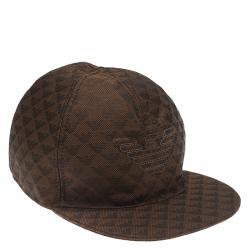 Emporio Armani Brown Monogram Baseball Cap Size L