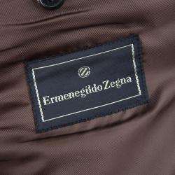 Ermenegildo Zegna Brown Twill Blazer L