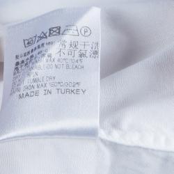 Ermenegildo Zegna White Long Sleeve Buttondown Cotton Shirt S