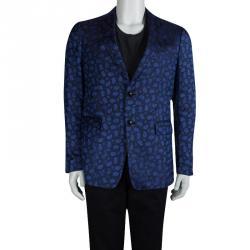 c96079d3ec646 Etro Blue Paisley Motif Jacquard Silk Blazer M. Etro. Jackets