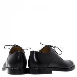 Fendi Black Leather Oxfords Size 42