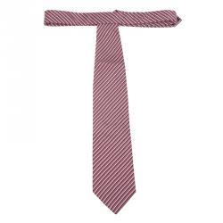 Giorgio Armani Red Striped Silk Tie