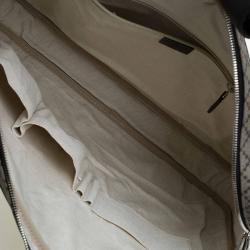 Gucci Black/Beige Diamante Canvas Briefcase Bag