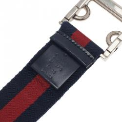 Gucci Web Detail Canvas Belt 95CM