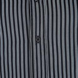 Gucci Monochrome Striped Long Sleeve Button Front Shirt S
