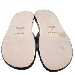 Hermes Indigo Blue Alligator Izmir Sandals Size 44