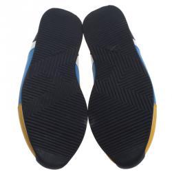 حذاء رياضي هيرمس جلد متعدد الألوان برباط مقاس 44