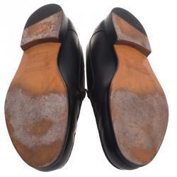 حذاء موكاسان لاكي جلد أسود مقاس 43.5