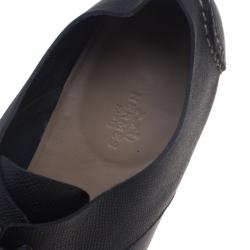 Hermes Black Leather Kent Derby Size 44