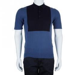 Lanvin Men's Blue Polo Shirt S