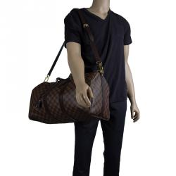 Louis Vuitton Damier Ebene Canvas Keepall Bandouliere 45