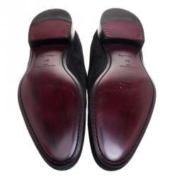 Louis Vuitton Black Suede Lace Up Oxfords Size 44