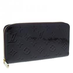 Louis Vuitton Amarante Monogram Vernis Leather Zippy Wallet