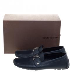 Louis Vuitton Blue Leather Monte Carlo Loafers Size 43
