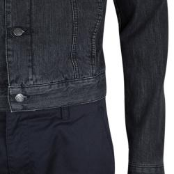McQ By Alexander McQueen Faded Black Denim Jacket M