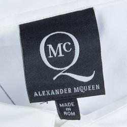McQ By Alexander McQueen White Printed Long Sleeve Buttondown Cotton Shirt XXL