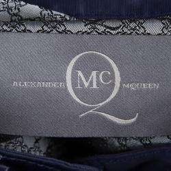McQ By Alexander McQueen Navy Blue Bomber Jacket S