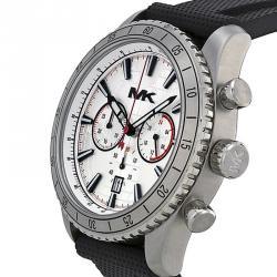 ساعة يد رجالي مايكل كورس ريتشاردسون MK8353 ستانلس ستيل خريطة فضية 45 مم