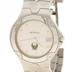 Movado White Stainless Steel UAE Logo Sports Limited Edition Men's Wristwatch 42mm