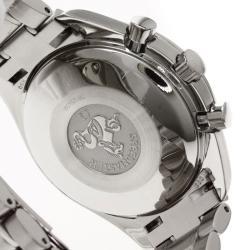 Omega Blue Stainless Steel Speedmaster Men's Wristwatch 39MM