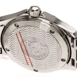 Omega Blue Stainless Steel Seamaster Men's Wristwatch 36MM