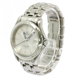 Omega Silver Stainless Steel Seamaster Men's Wristwatch 36MM