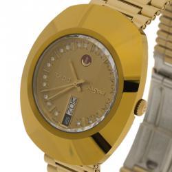 2b522b418 ساعة يد رجالية رادو دايستار ستانلس ستيل ذهبية 35 مم