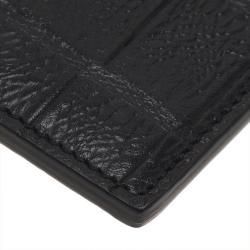 Saint Laurent Paris Black Alligator Embossed Card Holder