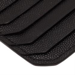 Saint Laurent Paris Black Zipped Leather Card Holder