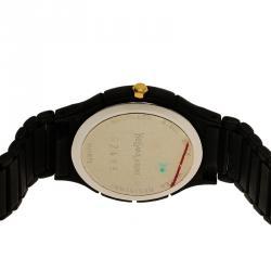 Saint Laurent Paris White Stainless Steel and Ceramic Classic Men's Wristwatch 30MM