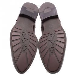 Salvatore Ferragamo Burgundy Leather Marciano Wing Tip Derby Size 42.5