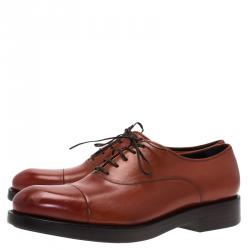 Salvatore Ferragamo Brown Leather Pride Oxfords Size 42.5