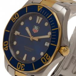 Tag Heuer Blue Gold-Plated Stainless Steel Aquaracer Men's Wristwatch 41MM