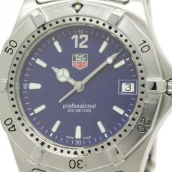 Tag Heuer Blue Stainless Steel 2000 Classic Men's Wristwatch 37MM