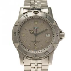 Tag Heuer Grey Stainless Steel 2000 Professional Diver Men's Wristwatch 38MM